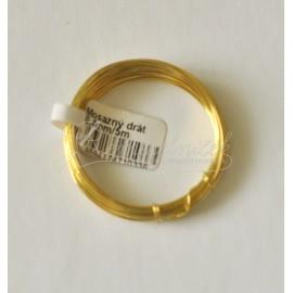 mosadzný drôt 0,4mm/5metrov