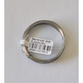 nerezovy drôt 0,4mm - 5metrov