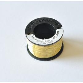 mosadzný drôt 0,2mm/50g - cca 170metrov