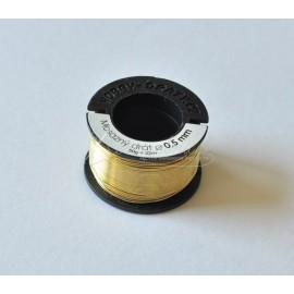 mosadzný drôt 0,5mm/50g