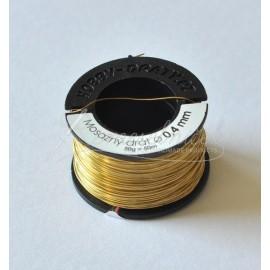 mosadzný drôt 0,4mm/50g- cca 50 metrov