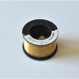 mosadzný drôt 0,6mm/50g