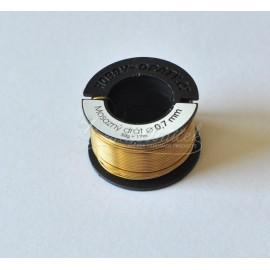 mosadzný drôt 0,7mm/50g