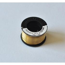 mosadzný drôt 0,8mm/50g
