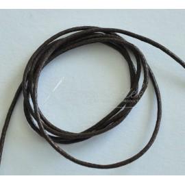 voskovaná šnúrka 1,5mm hnedá 1 meter