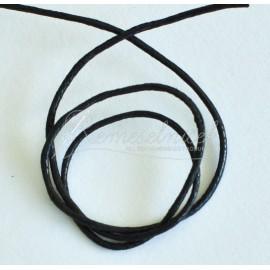 voskovaná šnúrka 1,5mm čierna 1 meter