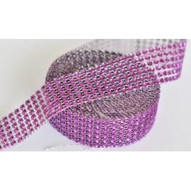 strasová stuha 30mm fialová