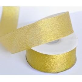 ozdobná stuha brokátová zlatá 38mm 1 meter