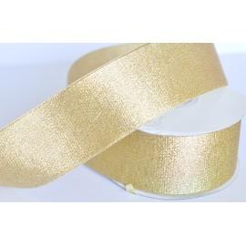 ozdobná stuha brokátová zlatá 50mm 1 meter
