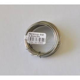 nerezovy drôt 0,8mm - 5metrov