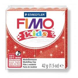 FIMO kids červená s trblietkami 42g