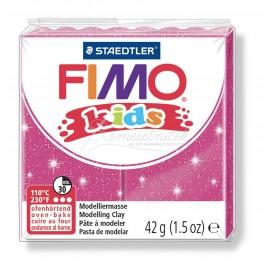 FIMO kids ružová s trblietkami 42g