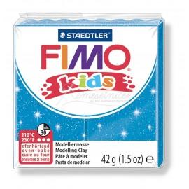 FIMO kids modrá s trblietkami 42g