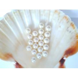 plastové perly 10mm krémové