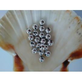 plastové perly 10mm strieborne