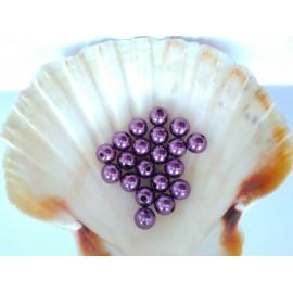 plastové perly 10mm fialove