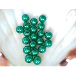 plastové perly 10mm tmavo  zelene