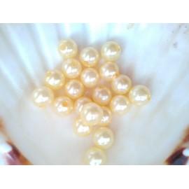 plastové perly 10mm svetlo zlte