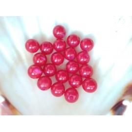 plastové perly 10mm  cervene