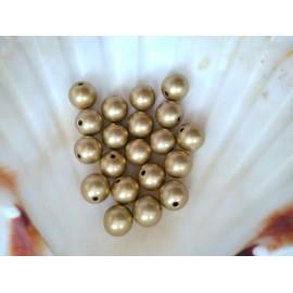 plastové perly 10mm zlate