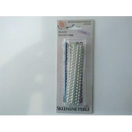 klauče perle fúkané guľa 6mm, strieborná