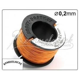 medeny drat 0,2mm, 50g