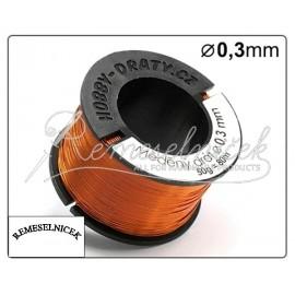 medeny drát 0,3mm, 50g