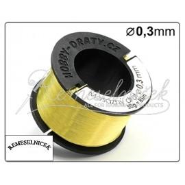 mosadzny drôt 0,3mm, 50g