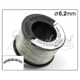 nerezovy drôt 0,2mm, 50g