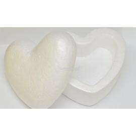polystyrenová šperkovnica srdce