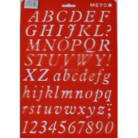 šablona abeceda, čísla