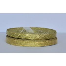 ozdobná stuha brokátová zlatá 6mm