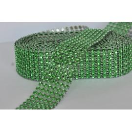 strasová stuha 30mm zelená