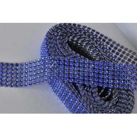 strasová stuha 30mm modrá
