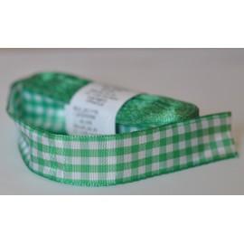 károvaná stuha 25mm zelená