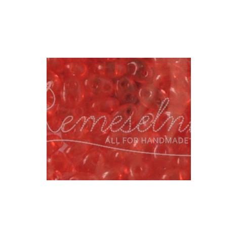 13c49b67f Sklenené korálky twin červená priesvitná - Remeselníček